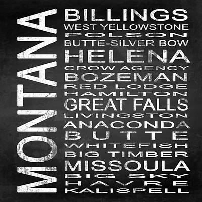 Subway Montana State Square Poster by Melissa Smith