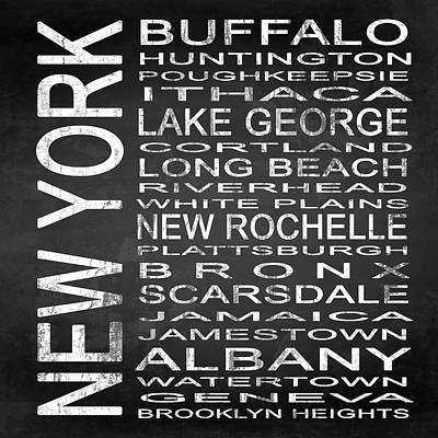 Subway New York State Square Poster by Melissa Smith