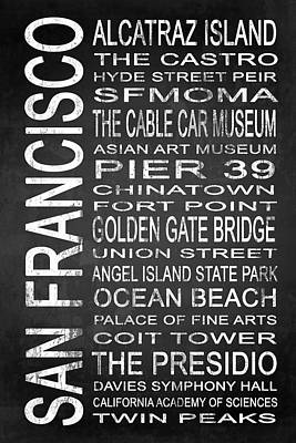 Subway San Francisco 1 Poster by Melissa Smith