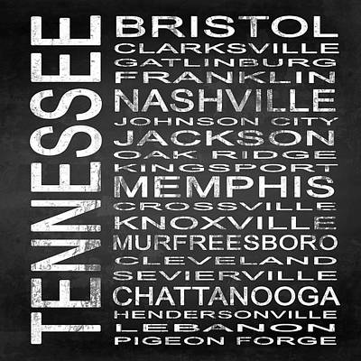 Subway Tennessee State Square Poster by Melissa Smith