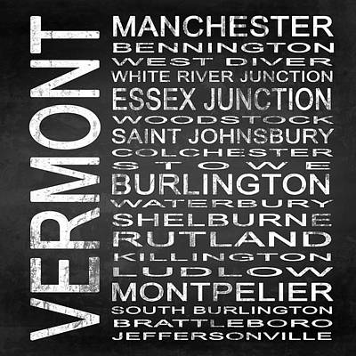 Subway Vermont State Square Poster by Melissa Smith