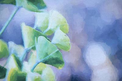 Succulent Blue Paint Poster by Terry Davis
