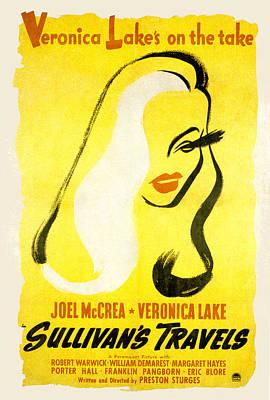 Sullivans Travels, Veronica Lake Poster by Everett