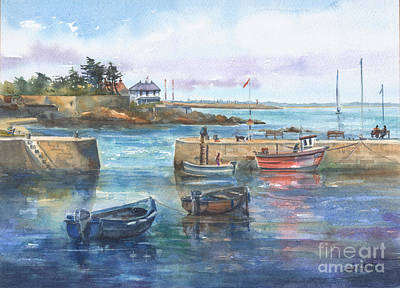 Summer At Bulloch Harbour Dalkey Poster by Kate Bedell
