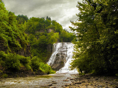 Summer At Ithaca Falls Poster by Jessica Jenney