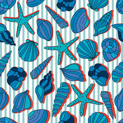 Summer Blue  Poster by Mark Ashkenazi