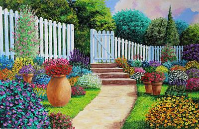 Summer Flower Garden Poster by Jean Marc Janiacyk