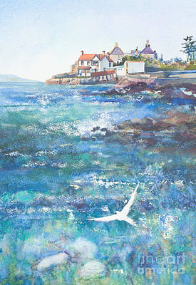 Summer In Sandycove Dun Laoghaire Ireland Poster by Kate Bedell