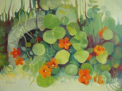 Summer In The Garden Poster by Elena Oleniuc