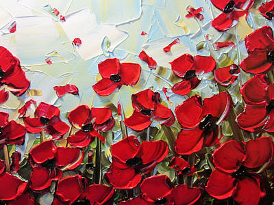 Summer Red Poppies Poster by Christine Krainock