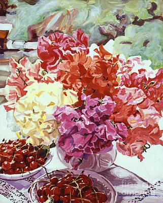 Summer Sweet Cherries Poster by David Lloyd Glover