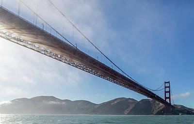Sun Beams Through The Golden Gate Poster by Scott Campbell