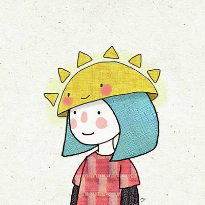 Sun Hat Poster by Carolina Parada