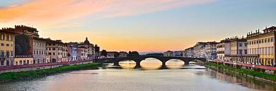 Sun Sets On Florence Poster by Frozen in Time Fine Art Photography