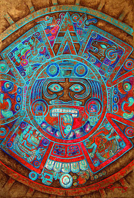 Sun Stone Poster by Jose Espinoza
