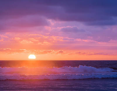 Sundown At Oceanside Beach - Sunset Photograph Poster by Duane Miller