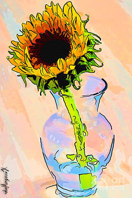Sunflower Color Poster by rdm-Margaux Dreamations