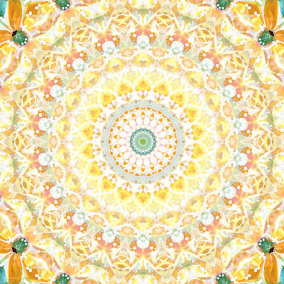 Sunflower Mandala- Abstract Art By Linda Woods Poster by Linda Woods