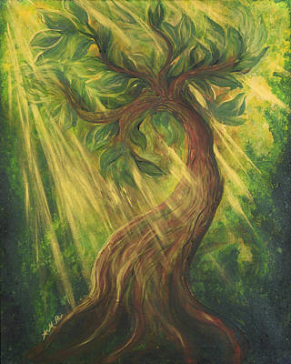 Sunlit Tree Poster by Michelle Pier