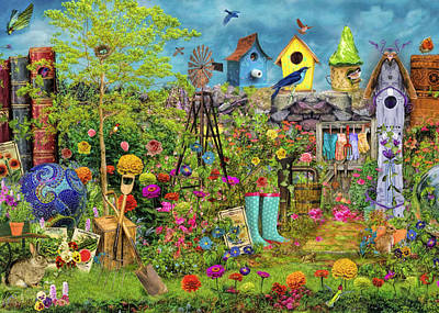 Birdwatching Poster featuring the photograph Sunny Garden Delight by Aimee Stewart