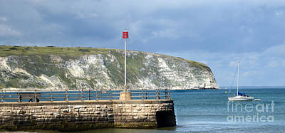 Sunny Swanage Dorset Uk Poster by Linsey Williams