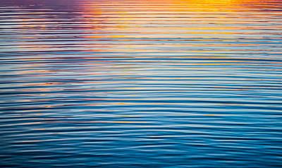 Sunrise Abstract On Calm Waters Poster by Parker Cunningham