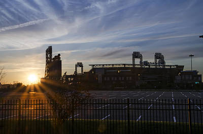 Sunrise At Citizens Bank Park - Philidelphia Poster by Bill Cannon