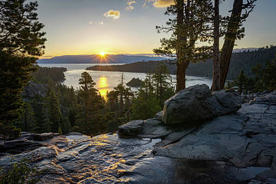 Sunrise At Emerald Bay In Lake Tahoe Poster by James Udall