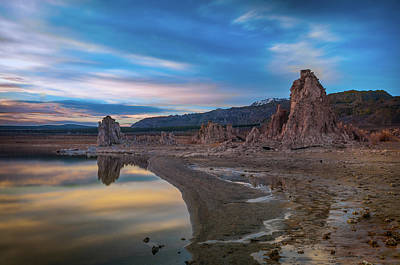 Sunrise At Mono Lake Poster by Ralph Vazquez