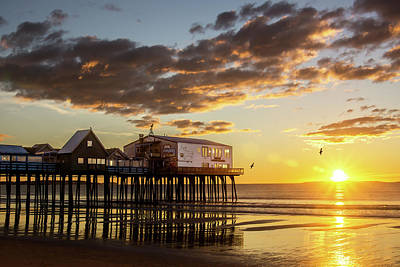 Sunrise At The Pier Poster by Shared Perspectives Photography - Jason Baldwin