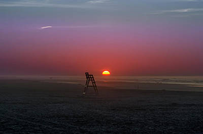 Sunrise At Wildwood New Jersey Poster by Bill Cannon