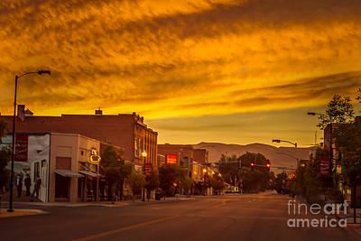 Sunrise Over Emmett Poster by Robert Bales