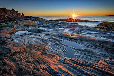 Sunrise Over Muscongus Bay Poster by Rick Berk