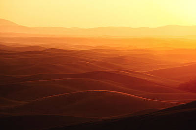 Sunrise Over Palouse Poster by Todd Klassy