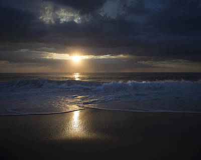 Sunrise Over The Atlantic Ocean - Nauset Beach Poster by Dapixara Art