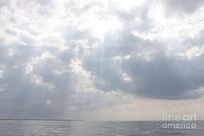 Suns Rays Over The Atlantic Ocean Poster by John Telfer