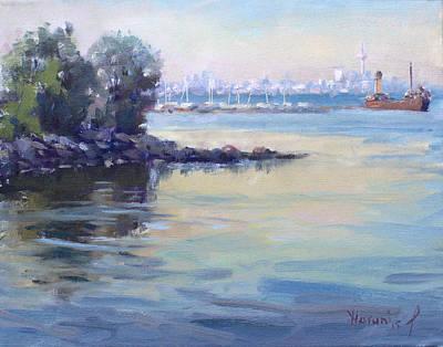 Sunset At Lake Ontario  Poster by Ylli Haruni