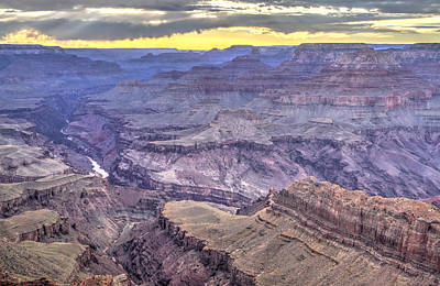 Sunset At Lipan Point Poster by Jessica Velasco