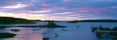 Sunset At Port Clyde Lobster Village Poster by Panoramic Images