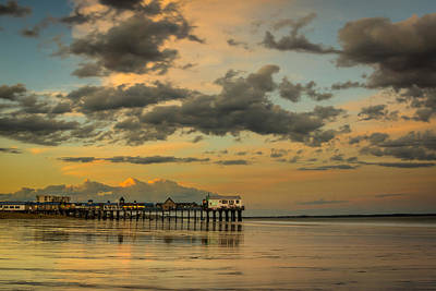 Sunset At The Pier Poster by Jason Baldwin - Shared Perspectives  Photography