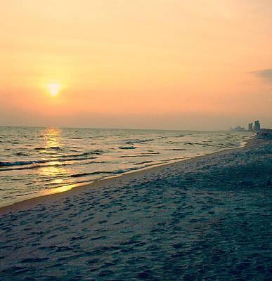 Sunset Beach Poster by Arlene Price