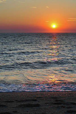 Sunset Beach Cape May Point New Jersey V  Poster by Terry DeLuco