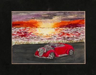 Sunset Cruiser Poster by Nikki Portanova