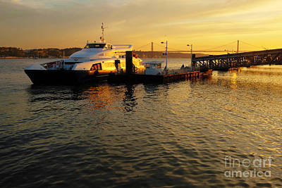 Sunset Ferryboat Poster by Carlos Caetano