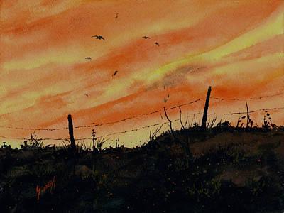 Sunset Flight Poster by Sam Sidders