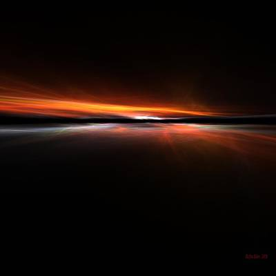 Sunset Island Poster by Steve K