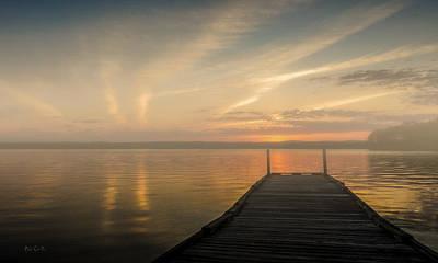 Sunset Lake Auburn Maine Poster by Bob Orsillo