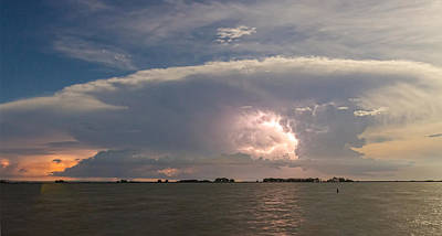 Sunset Lake Storm Front Panorama View Poster by James BO  Insogna