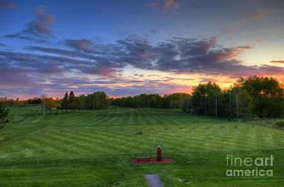 Sunset Minnesota National Golf Course Championship Course Poster by Wayne Moran