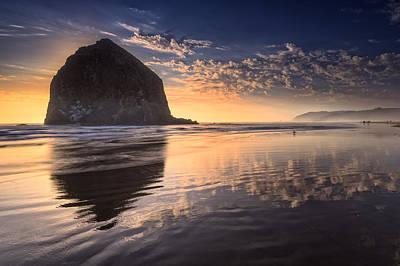 Sunset On Cannon Beach Poster by Rick Berk